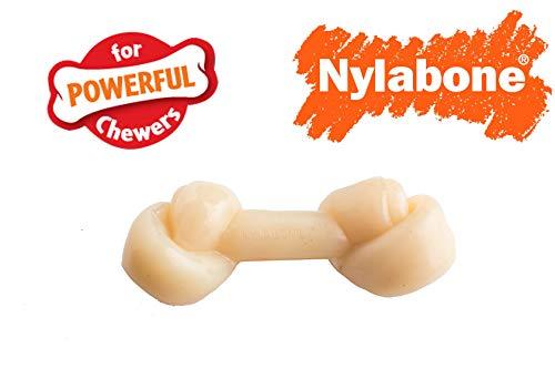 Nylabones Original Knot Bone Dog Chew Toy 3 Pack,Chicken Flavored