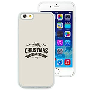 NEW Unique Custom Designed iPhone 6 4.7 Inch TPU Phone Case With Merry Christmas Happy New Year 2015 Retro_White Phone Case