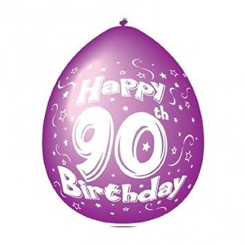 Globos 90 cumpleaños: Amazon.es: Juguetes y juegos