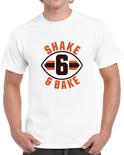Baker Mayfield Shake and Bake Cleveland Football White T Shirt L White