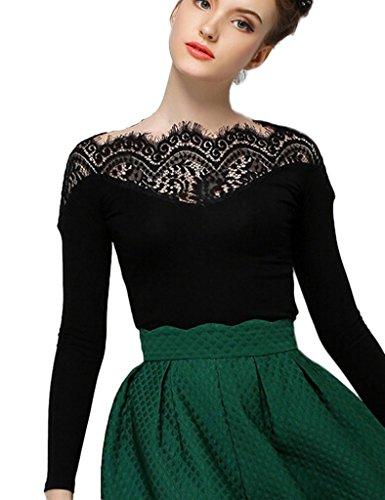 Persun Womens Black Sleeve T shirt