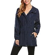 Unibelle Women's Lightweight Waterproof Hoodie Raincoat Cycling Packable Jacket,S-XXL