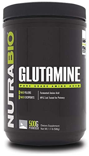 NutraBio 100% Pure L-Glutamine