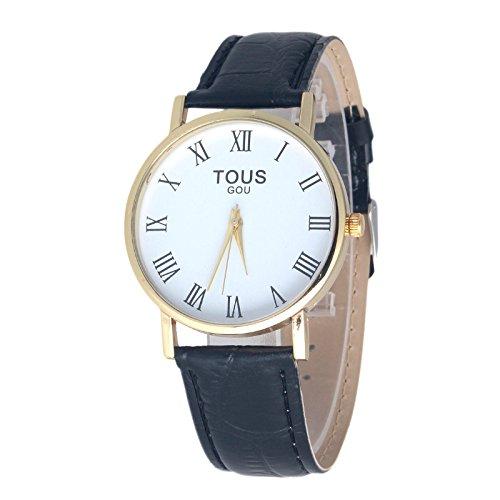 Nueva Mujer Reloj Casual De Piel Auténtica High-End Geneva Watch Super Thin Platinum Reloj de cuarzo analógico reloj horas wk0807 - 1.5: Amazon.es: Relojes