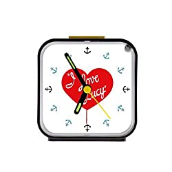 The Fame I Love Lucy Custom Square Black Alarm Clock 100% Quartz