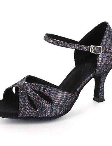 ShangYi Sandales latines personnalisées femmes personnalisés talon avec des chaussures de danse de buckie (plus de couleurs) , purple-us8.5 / eu39 / uk6.5 / cn40 , purple-us8.5 / eu39 / uk6.5 / cn40