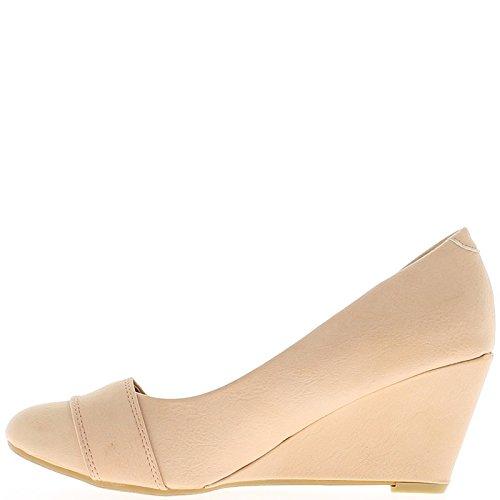 Topo con pequeño redondo 6,5 cm offset mujer termina con zapatos de diamante de imitación