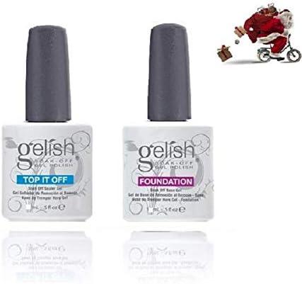 Gealish Gel Base y Top Coat 10 ml Harmony Foundation UV LED Soak Off Duo pulant, Harmony Top Coat Base Coat