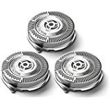 Set of 3 Generic Replacement Shaver Heads Fit for Philips Norelco HQ9 SpeedXL HQ9100 HQ8100 8140XL 9190XLCC