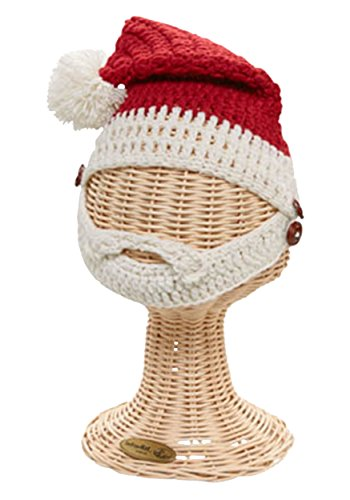 San Diego Hat Company Kid's Santa Hat with Beard S RED