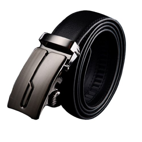 Amazon Lightning Deal 75% claimed: Panegy Men Leather Alloy Automatic Buckle Waist Belt