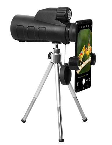 High Power Monocular Telescope 15X50 Monocular Scope with Tripod Smartphone Holder, HD Low Light Night Vision Scope, Waterproof Super Bright and Clear for Adults Bird Watching Wildlife MB15-1 by ANATA (Image #6)