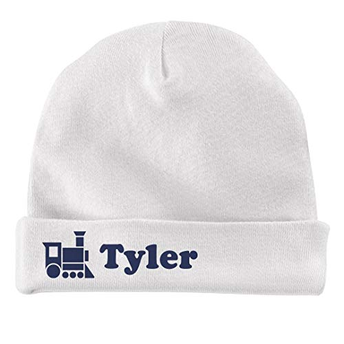FUNNYSHIRTS.ORG Baby Boy Tyler Train Hat: Infant Baby Hat - Tyler Beanie