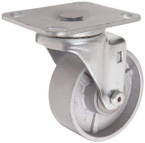 8 Wheel Dia 2 Wheel Width Swivel Celcon Bearing 9-1//2 Mount Height 4 Plate Width Urethane on Polypropylene Wheel 1000 lbs Capacity 4-1//2 Plate Length RWM Casters 45 Series Plate Caster