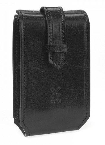 Travel Set 3 – Gillette Fusion Razor and Silvertip Fibre Shaving Brush (Florentine Black Leather)