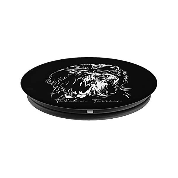 Funny Proud Tibetan Terrier dog portrait gift present PopSockets Grip and Stand for Phones and Tablets 2