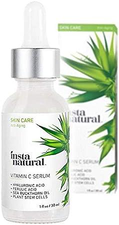 Vitamin C Serum with Hyaluronic Acid & Vit E - Natural & Organic Anti Wrinkle