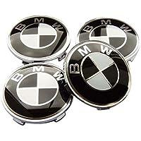 Carbon Fiber Car Wheel Center emblem Badge 4pcs/set Auto Wheel Hub Caps Logo for BMW