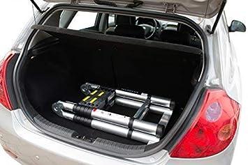 WORHAN/® 3.8m TELESKOPLEITER 2 in 1 ANLEGELEITER KLAPPLEITER ALU TELESKOP LEITER MULTIFUNKTTIONS LEITER 380cm K3.8A+bag