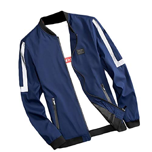 Formato uomini Giacche Buon Autunno Mercato Collare Blu Zip A Alzarsi Howme Più Fit t6qTdFSTw