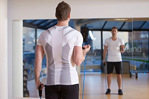 ALIGNMED Posture Shirt Pullover for Men - Moisture Wicking, Breathable, Compression & Performance Active Wear for Yoga, Fitness & Sports - Increases Upper Body Strength (White, Large)
