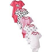 Gerber Baby-Girls 5 Pack Onesies, Dalmation, 0-3 Months