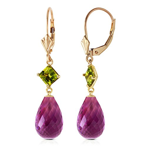 d Panorama Amethyst Peridot Earrings ()