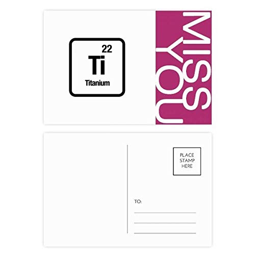 Ti Chemical Element chem Science Miss Postcard Set Thanks Card Mailing Side 20pcs -