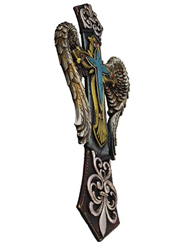 Amazing Angel Wings Fleur De LIs Decorative Layered Wall Cross by Unknown (Image #1)