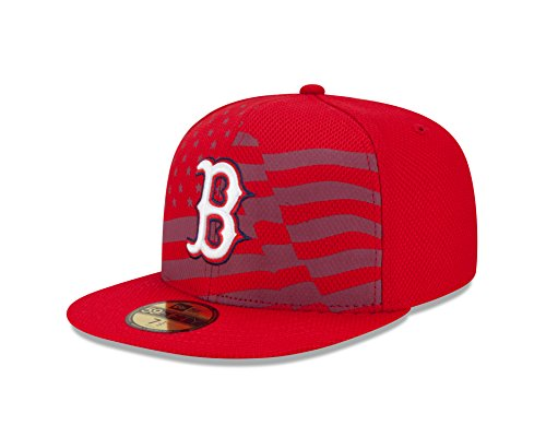 015 AC July 4th Stars and Stripes 59FIFTY Fitted Cap, Red, 7 5/8 ()