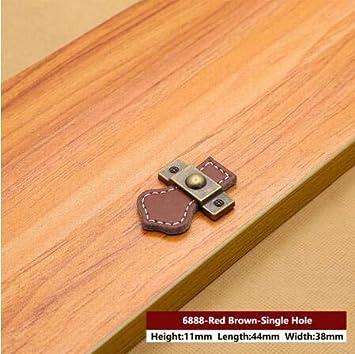 Bolso con asa de cuero Tirador de la puerta del cajón Tirador para muebles negro marrón Tirador para muebles Decoración de gabinete de aleación de zinc Tirador, MBS0010-4