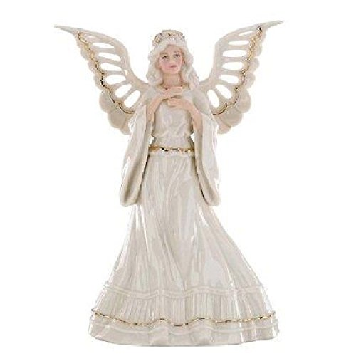 amazoncom lenox christmas angelic visions adoring angel tree topper home kitchen - Angel Topper For Christmas Tree