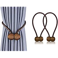 2 PCS Curtain Tiebacks Clips VS Strong Magnetic Tie Band Home Office Decorative Drapes Weave Holdbacks Holders European