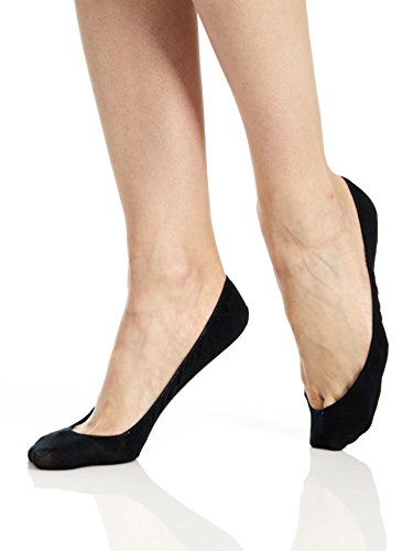 (Hue Women's Hidden Cotton Liner - 2 Pack, Black, S/M )