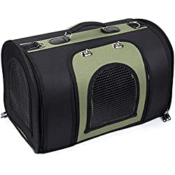 IRVING Pet Carrier for Small Dogs, Cats, Puppies, Kittens, Pets, Collapsible, Travel Friendly, Cozy and Soft Dog Bed, Carry Your Pet with You Safely and Comfortably (Color : Black, Size : L)
