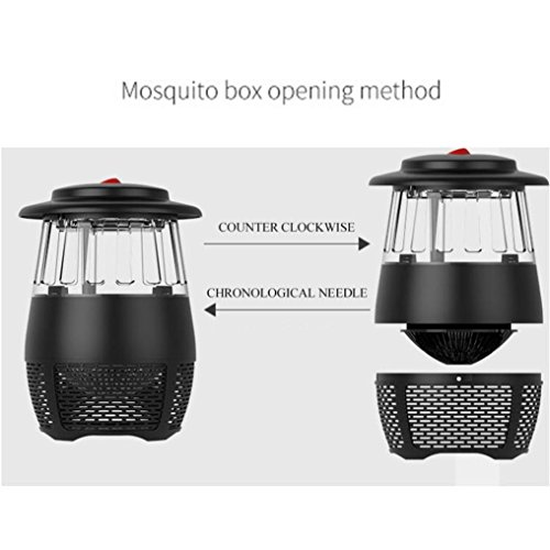 USB Stheanoo Mosquito Zappers Electric Fly Bug Insect Killer LED Light Pest Trap Lamp Non-toxic, Non-polluted, Radiation-free Mosquito Killer for Home Kitchen Bedroom (black) by Stheanoo Zapper (Image #8)