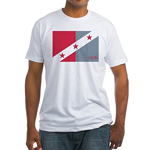 (CafePress Alpha Sigma Phi Flag Fitted T Shirt Fitted T-Shirt, Vintage Fit Soft Cotton Tee White)