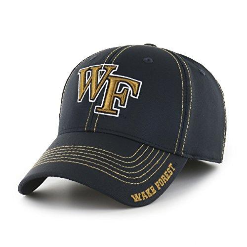 (NCAA Wake Forest Demon Deacons Adult Start Line Ots Center Stretch Fit Hat, Large/X-Large, Black)