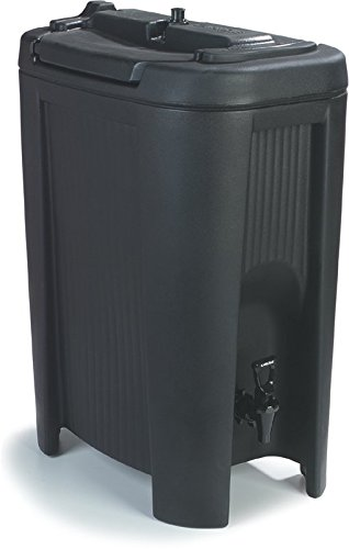 Carlisle XB503 Cateraide Slide N Seal Polyethylene Beverage Dispenser, 5 gal, Black