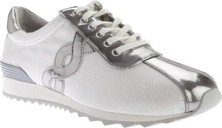 Easy Spirit Women's Lexana Sneaker,White/Silver Fabric,US 8.5 M