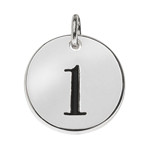 (Beadaholique Lead-Free Pewter, Round Number Charm '1' 13mm, 1 Piece, Silver Plated)