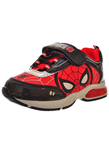 Favorite Characters Boys Marvel Spider-Man Lighted Sneaker (Toddler/Little Kid), Size 9 Red -