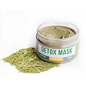 GREEN TEA DETOX FACE MASK By Teami | Our 100% Best Facial Care Mud Masks with Bentonite Clay for a Natural, Hydrating Cleanse of Dry Skin that Removes Blemishes | Antioxidant, Moisturizing, Anti-aging