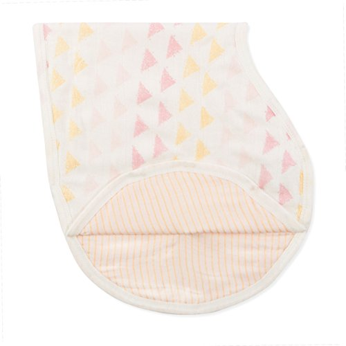 "aden + anais Silky Soft Metallic Burpy Bib; 100% Viscose bamboo Muslin; Soft Absorbent 4 Layers; Multi-Use Burp Cloth and Bib; 22.5"" X 11""; Single; Primrose by aden + anais"