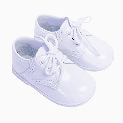 Image Unavailable. Image not available for. Color  Infant Baby Boys Size 4  Patent White Classic Saddle Style Dress Shoes 7c738c77f