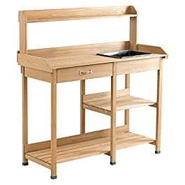 Giantex Garden Potting Bench Table Wood Potting Wo...