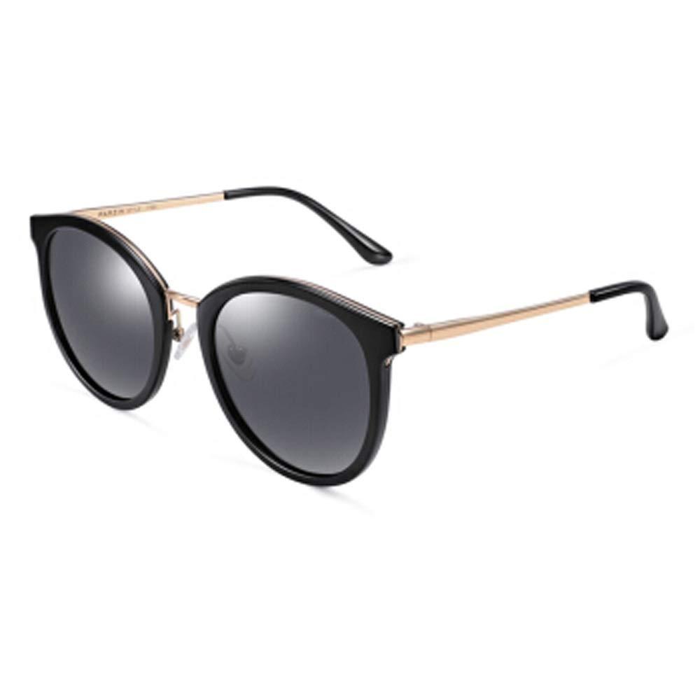 A Retro Round Sunglasses for Women's Retro Style UV Predection (color   A)