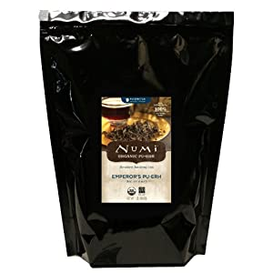 Numi Organic Emperor's Pu-erh, Loose Leaf Tea, 16 Ounce Bag