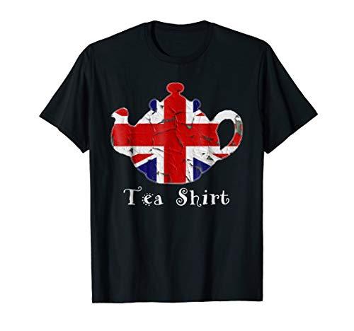 (British Tea T shirt Distressed Teapot)