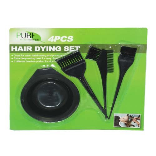 Hair Dying Set 4pc, Case of 24 by DollarItemDirect